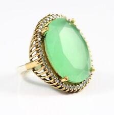 Turkish Handmade Jewelry Sterling Silver 925 Emerald Ring Ladies 6-12