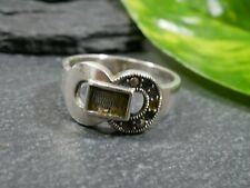 925 Silber Ring Markasiten Steine Fehlen Gürtelschnallenoptik Defekt Für Bastler