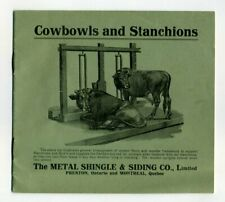 COWBOWLS AND STANCHIONS METAL SHINGLE & SIDING CO. Sales Brochure 1910s Canada