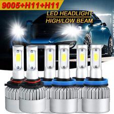 9005 + H11 + H11 6000K 4500W 675000LM Combo CREE LED Headlight Kit Hi Low Bulbs