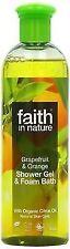 Faith in Nature Grapefruit Orange Shower GEL Foam Bath 400ml