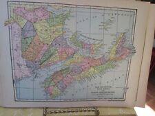 Vintage Print,EASTERN CANADA,Map,Dodd Mead,1907