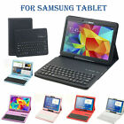 Stand PU Leather Case Cover With Removable Bluetooth Keyboard for Samsung Tablet