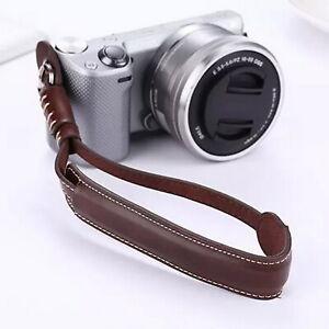 Leather Camera Wrist Strap-Sony Leica for sony Fuji Canon Olympus Nikon Pentax