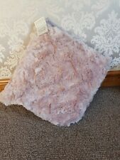 Brand New Sculptured Faux Fur Cushion 48x48 Cm Blush