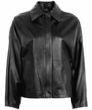 TOPSHOP Boutique Leather Shirt Biker Jacket in Black Size UK 8 / US 4