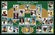 1979 PITTSBURGH PIRATES World Series POSTER Man Cave Decor Fan Xmas Gift 79