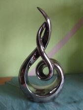 Keramik Skulptur: Modern ++ Statue++ Tischdekoration ++ siberfarbend