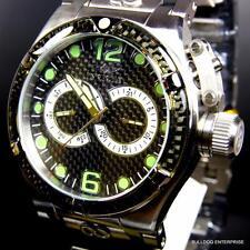 Mens Invicta Corduba Ibiza Carbon Fiber Chronograph Black Silver Tone Watch New