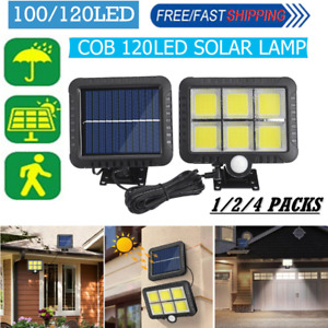 120 LED Solar Power PIR Motion Sensor Waterproof Wall Light Outdoor Garden Lamp.