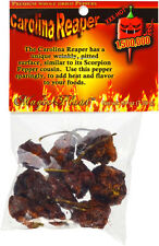 GOURMET AUTHENTIC CAROLINA REAPER PODS WORLD HOTTEST PEPPER 1/4 oz .25 oz 7.09g