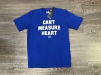 "Under Armour Tom Brady TB12 ""Can't Measure Heart"" T-Shirt Blue Patriots 1322914"