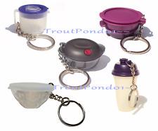 Tupperware Keychains Lot 5 Heat N Serve Smart Steamer Quick Shake Prisms Gadgets