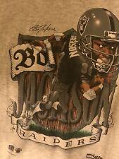 Vintage Bo Jackson Los Angeles Raiders Shirt Nfl Football Salem Sportswear XL