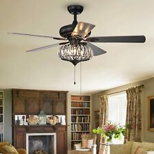 New Listing52 Inch Farmhouse Chandelier Ceiling Fans with Pull Chain Living room decoration