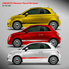 Fiat 500 Abarth side stripe graphics decal