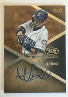 2019 TOPPS TIER ONE T1A-I  ICHIRO, Seattle Mariners CERTIFIED AUTOGRAPH, 5/25