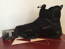 """Nike Lebron Soldier 10 """"Triple Black"""" ~ 844374 001 ~ U.K. Size 9.5"""