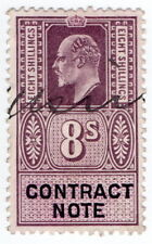(I.B) Edward VII Revenue : Contract Note 8/-