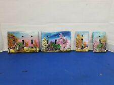 Hand Painted Toggle Light Switch Country Cabin Barn scenes lot of 4