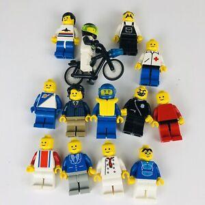 Vintage LEGO Minifigures LOT (13) Town & City Race Space