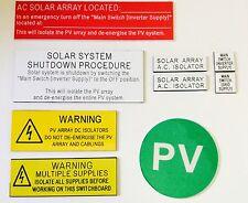 Solar Label Kit - Micro Inverter Kit (9 pieces) Fully Engraved (10 kits inc.)