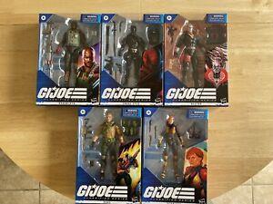 G.I. Joe Classified Wave 1 - Roadblock, Snake Eyes, Destro, Duke, Scarlett. BNIB