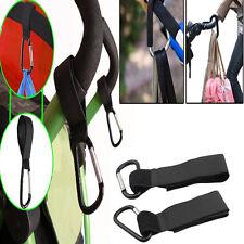 2Pc Universal Buggy Mummy Pushchair Pram Stroller Hook Shopping Bag
