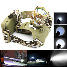 5000LM Cree XM-L T6 LED Headlight Torch Camping Hiking Fishing Head Light Lamp
