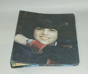 ORIGINAL 1972 DONNY OSMOND SOUVENIR THREE - RING NOTEBOOK BINDER