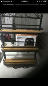 Wraught Iron 3tier Shelves  Genuine