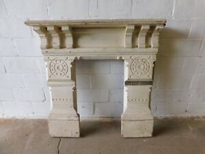 1800's Antique FIREPLACE MANTEL Surround EASTLAKE Style Butternut Very ORNATE