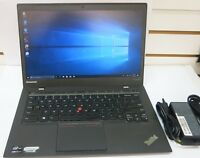 "Lenovo ThinkPad X1 Carbon 2nd Gen 14"" Laptop i7-4600U 128GB SSD 8GB Ram Win 10 A"
