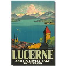 Lucerne Fridge magnet Switzerland Vintage Poster travel souvenir