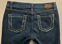 Buckle BKE Sabrina Stretch Womens Denim Blue Jeans Sz 30 x 29 1/2 Boot Cut Dark