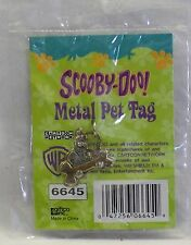 Scooby-Doo Metal Pet Tag Charm Gold Tone Dogs Cats Scooby Holding Bone *New