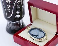 Anhänger chain pendant Lagen-Kammee Onyx Gold 585 Brilliant diamond cameo Flora