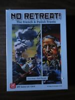 No Retreat! The French & Polish Fronts by GMT Games 2018 mint in shrink