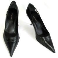 SERGIO ROSSI - Escarpins talon 7 cm cuir noir 38 - TRES BON ETAT