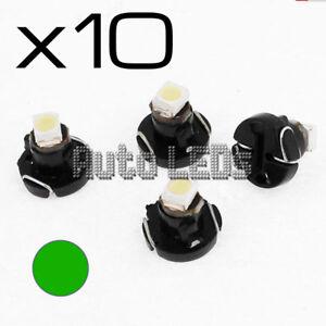 10 Green SMD LED T3 Neo Wedge 12v Interior LED Bulb