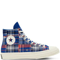 CONVERSE CHUCK 70 TWISTED PREP HI TOP - RUSH BLUE / UNIVERSITY RED - UK 7.5