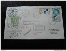 TAAF carta 8/12/91 - sello - yvert y tellier n°155 et 157 (cy5)