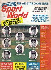 1962,(Jul.) Sport World, baseball, magazine, Willie Mays, San Francisco Giants
