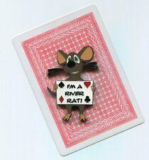 I'M A RIVER RAT Poker Card Guard Protector Cover