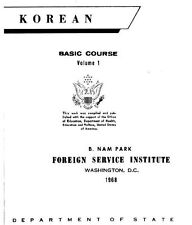FSI KOREAN BASIC COURSE VOL1-2 DISK-MP3+PDF BOOKS+BONUS