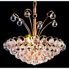 "Palace Blossom 18"" 8 Light Crystal Chandelier Light - Gold lighting Fixture"