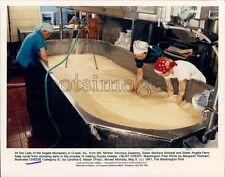 1991 Sisters Working in Vat of Gouda Cheese Monastery Crozet VA Press Photo