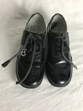 Lelli Kelly Girls Black Brogue Lace Up Patent Leather Shoes Size 30