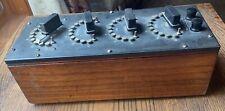 Vintage Antique Decade Resistance Box Type 102j General Radio Co Bakelite Wood