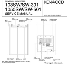 KENWOOD 103SW SW-301 1050SW SW-501 Schematic Diagram Service Manual Techniques